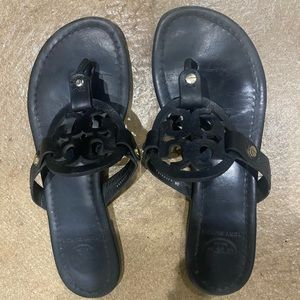Tory Burch Miller size 7 black leather sandals